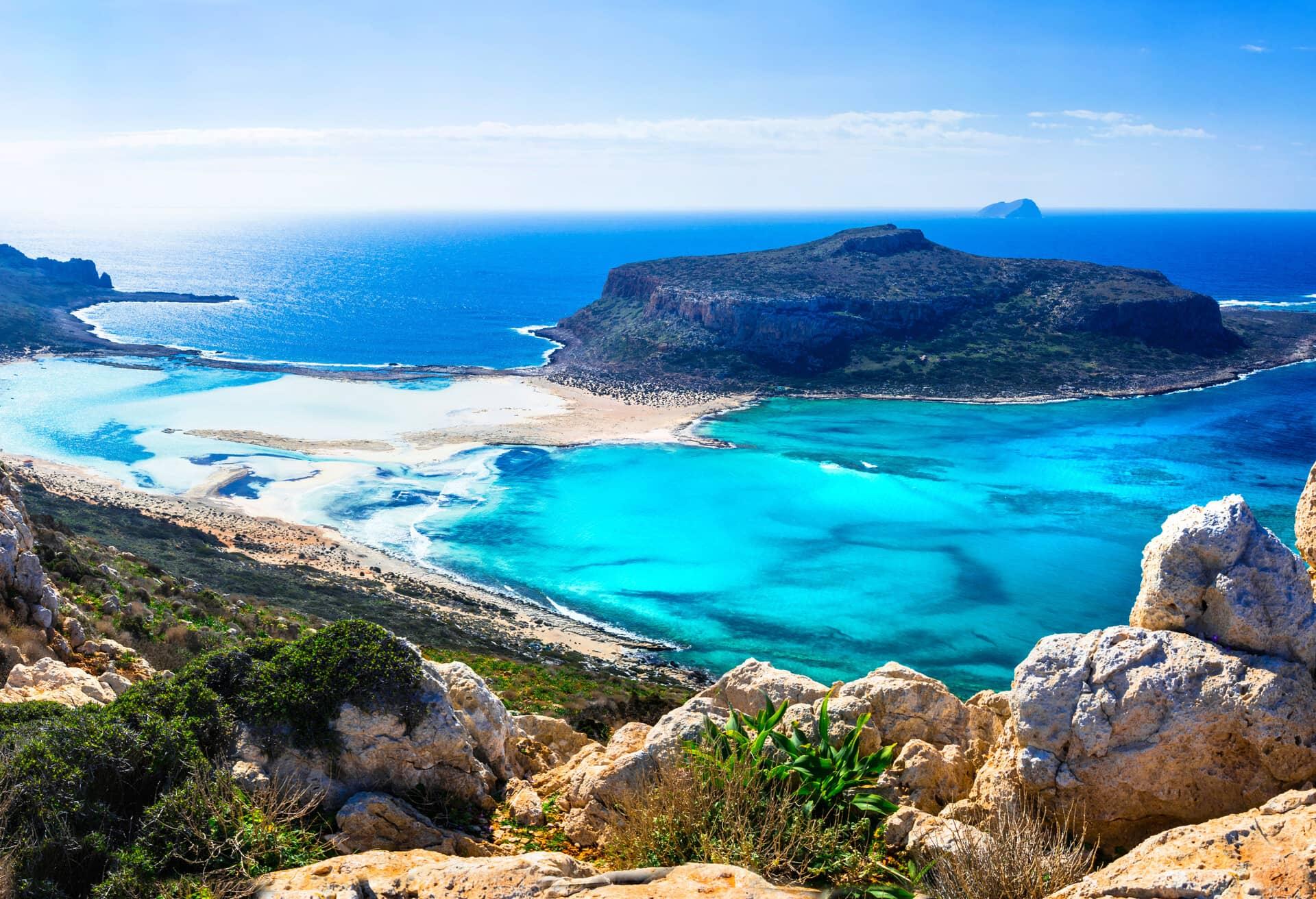 En spektakulär vy över Kreta, Grekland.