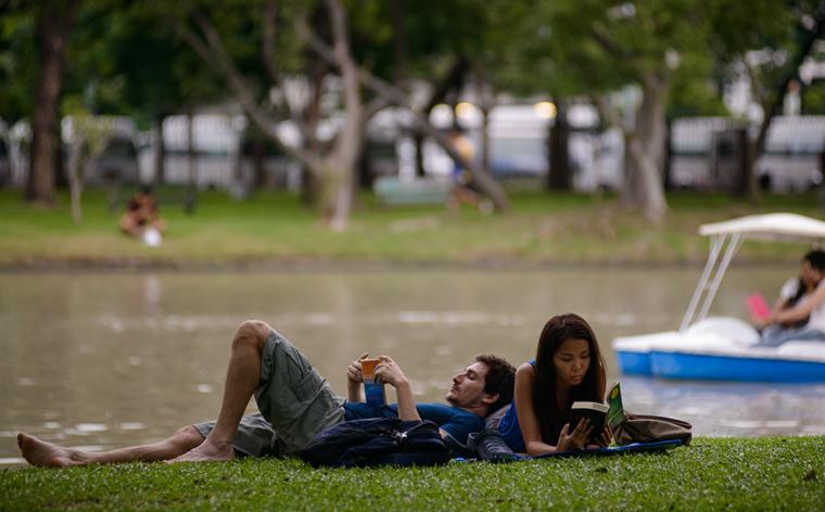 Hitta lugnet: Gröna, sköna platser i Bangkok