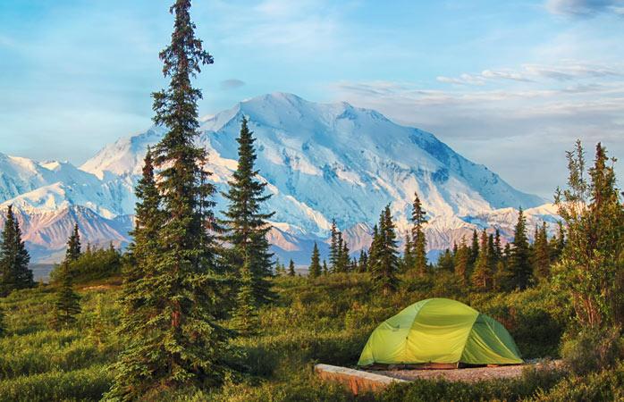 Hitta den bästa utsikten och slå upp ditt tält